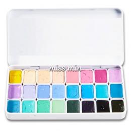 24 kolor akwarela cukierki kolor nowy kolor kolor podstawowy aquarela dostaw sztuki początkujących, jak 0.8 ml mini żelazne pude