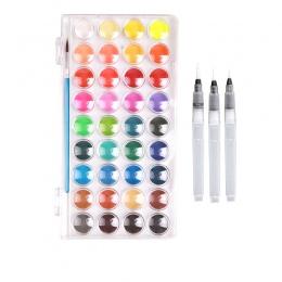 Doskonałe malowanie farby litego zestaw akwareli z pędzlem jasny kolor malowanie zestaw pigmentów dla studentów dostaw sztuki