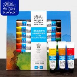 Winsor & Newton 12/18/24 kolory akwarela wysokiej jakości przezroczyste Pigment do akwareli na School Acuarelas studenta