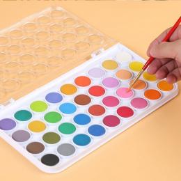 12/16/24/28/36 kolory stałe farby akwarelowe zestaw jasny kolor przenośny zestaw pigmentów do akwareli dla dostaw sztuki rysunek
