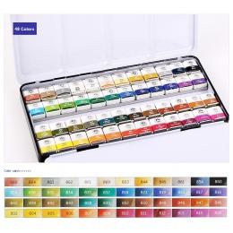 MUNGYO profesjonalne akwarela farby MWPH serii 12/24/48 kolory pigment pan typu żelaza pakowania art rysunek farby