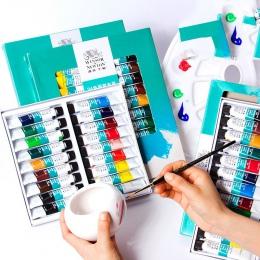 Winsor & Newton 12/18/24 kolory profesjonalne farby akrylowe wysokiej jakości akrylowe malarstwo Pigment do malowanie artystyczn
