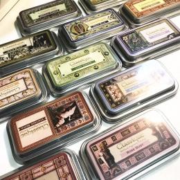 Tsukineko drukarek atramentowych CQ Classique archiwalnych Pigment odcisk atramentowy w stylu Vintage metalowe pudełko znaczek w