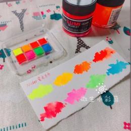 NICKER Acuarela Aquarela Hayao Miyazaki anime akwarela fluorescencyjne 8 kolor kolor wody sztuki malowania sub-pakiet sulu boya