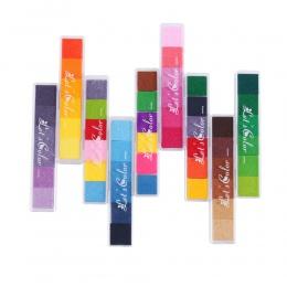 Nietoksyczny gradientu kolorowy atrament Pad Inkpad pieczątka na bazie oleju na bazie oleju odcisków palców ładny prezent dla dz