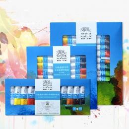 Winsor & Newton 12/18/24 kolory profesjonalne akwarela farby wysokiej jakości akwarela malarstwo Pigment do malowanie artystyczn