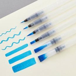 6 sztuk przejrzyste wody przenośny pędzel pędzle do akwareli ołówek pędzle do akwareli długopis dla początkujących malarstwo rem