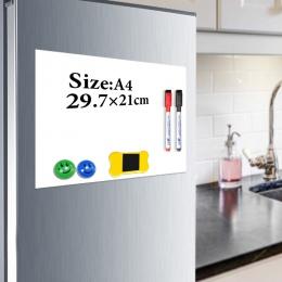 YIBAI tablica magnetyczna A4 miękka tablica magnetyczna, Dry Erase do rysowania i nagrywania płyta do lodówki lodówka z bezpłatn