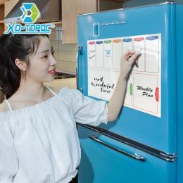 A3 tablica tygodniowy Planner magnes na lodówkę 29.7*42 cm magnetyczny elastyczny biały pokładzie wiadomość rysunek lodówka tabl