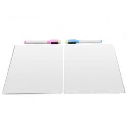 Biała tablica magnetyczna na białym lodówka tablica 2 sztuk zestaw (2 normalne markery jako prezent)