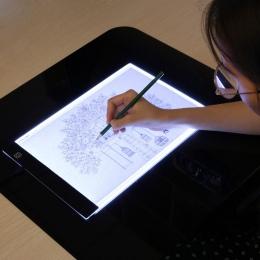 LED elektroniczny tablica A4 podświetlana podkładka tablet graficzny śledzenia Pad szkicownik puste płótno do malowania akwarela