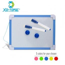 20.5*15.6 cm magnetyczne tablica wytrzeć do sucha 5 kolory rama Mini deski kreślarskiej małe wiszące usunąć deski z piórem