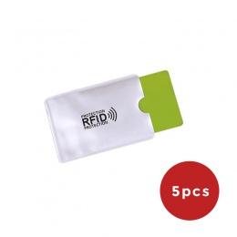 5 sztuka anty portfel RFID blokada czytnika blokada karty bankowej uchwyt na dokumenty Id etui na karty bankowe ochrony metalowy