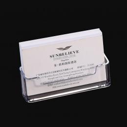 1 sztuk wyczyść biurko półka Box witryna stojak akrylowy plastik przezroczysty pulpit uchwyt na wizytówki 10*5*5.7 cm