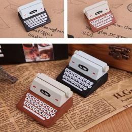 2018 kreatywny czarna kawa w stylu Vintage drewniane do maszyn do pisania i fotokartka biurko wiadomość notesik stojak posiadacz
