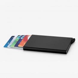Automatyczne Silde aluminium ID gotówka posiadacz karty mężczyzna Business RFID Blocking etui zabezpieczające na karty kredytowe