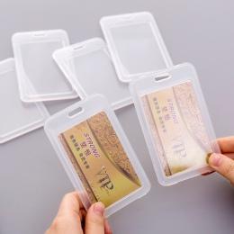 1 pc proste przezroczyste plastikowe nazwa karty pokrywa posiadacz karty bankowe karty