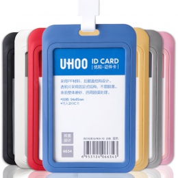 PP wystawa karty ID posiadacz karty nazwa znacznika personelu biznes odznaka uchwyt na materiały biurowe papiernicze
