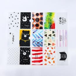 Czarny kot, student, szkoła, posiadacz karty krótki styl przezroczyste podwójną warstwą pcw pokrywa karty data data powrotu (Ban