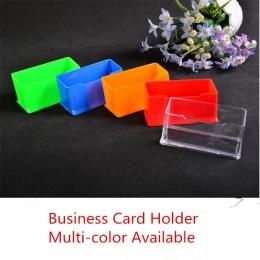1 sztuk wyczyść biurko półka Box witryna stojak akrylowy plastik przezroczysty pulpit uchwyt na wizytówki 10.5*4.5*4.5 cm