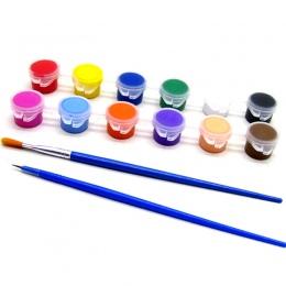 6/12 kolory farby akrylowe WaterBrush pigmentu zestaw do odzieży tkaniny tekstylne ręcznie malowane ściany malowanie gipsowe do