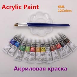 Zawód farby akrylowe zestaw rur do malowania paznokci narzędzie do rysowania dla artystów, 12 kolory oferta pędzle do malowania