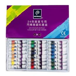 24 kolory 12 ML rury zestaw farb akrylowych kolor szkło do paznokci sztuki malowania farby do tkanin narzędzia do rysowania dla