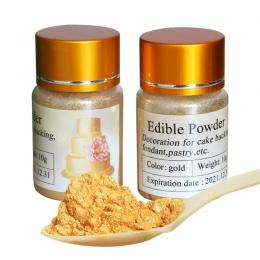 10 gramów jadalna żywność złoty proszek kolor do dekorowania czekolada i ciasto, dekoracja z żywnością artystyczną, pigment fond