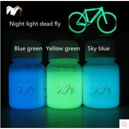 Gorąca sprzedaż 100g mieszane 3 kolory proszek luminescencyjny fosforowy Pigment do dekoracji DIY farby do druku, blask w ciemno