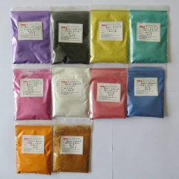 Pigment perłowy, pigment perłowy, proszek perłowy, kolor: srebrny czarny, żółty, itp. 1 partia = 10 kolorów, 20 gramów każdy kol