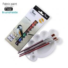 Pamięci marka profesjonalne tekstylne farba do tkanin zestaw nietoksyczny rury 12 kolory farby akrylowe dla artystów bezpłatna o