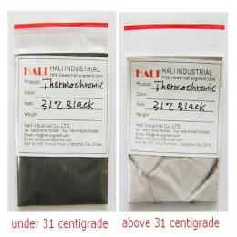 Proszek termochromowy, gorący aktywny pigment, pigment wrażliwy na ciepło, kolor: czarny, temperatura aktywacji: 15C, 20C, 31C,