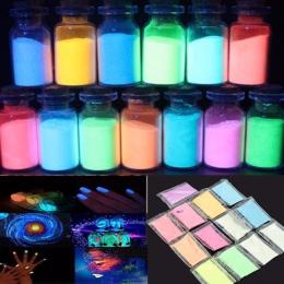 13 package/set lśniący lakier proszek do Party DIY dekoracji farby do druku losowe kolory noc powłoka