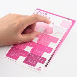 2019/2020 rok Rainbow kolor kalendarz naklejka indeks Notebook DIY dekoracyjne miesięcznik kategoria naklejki Planner akcesoria