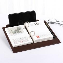 Kalendarz biurkowy 2019 kreatywny minimalistyczny kalendarz niestandardowe stół z drewna dekoracje Plan w tym Notebook kalendarz