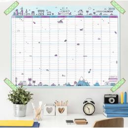 2019 365 dni papieru Kalendarz ścienny biuro szkolne codziennie Planner notatki duże badania nowy Plan rok harmonogram 43*58 cm
