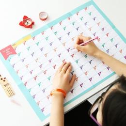 Nowy Superdeal 100 dni odliczanie kalendarz harmonogram szkoleń planowanie okresowe tabela prezent dla dzieci studium planowanie