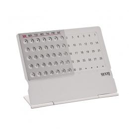 1 Pc kreatywny Mini Ultra cienki metal kalendarz biurkowy Super wieczny unikalne 100 lat języka angielskiego kalendarze