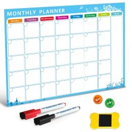 Tablica magnetyczna Dry Erase pokładzie magnesy na lodówkę lodówka lodówka lista rzeczy Do zrobienia miesięczny dziennik Planner