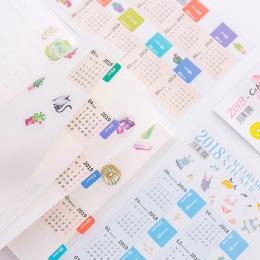 2 sztuk/zestaw 2019 kreatywny kalendarz naklejki etykiety naklejki indeks planowanie 2019.02 ~ 2020.04