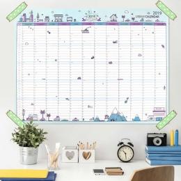2019 365 dni papieru Kalendarz ścienny biuro szkolne codziennie Planner notatki, bardzo duże badania nowy Plan rok harmonogram 4