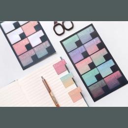 2 sztuk nowy Gradient 2019/2020 rok kalendarz naklejka indeks Notebook miesięcznik kategoria naklejka akcesoria do planisty czy