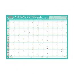2019 Planner 365 dzień kalendarze Plan książki śliczne tektura pomysły Plan książki Kawaii biurowe szkolne materiały biurowe Age