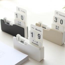 W stylu Vintage styl PP wieczny kalendarz kalendarz DIY sztuki rzemiosło biuro w domu biurko szkolne dekoracji prezenty