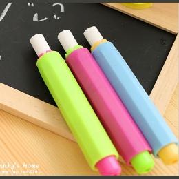 [4Y4A] 4 sztuk bezzapachowy kreda posiadacze uchwyt na długopis Porta Tiza kreda klip dla pyłu czyste nauczanie na tablicy nakle