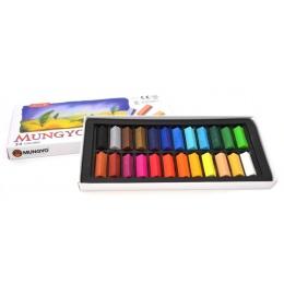 Mungyo miękkie do rysowania artystycznego zestaw pastelowy 24 kolorów zestaw kwadratowych kreda