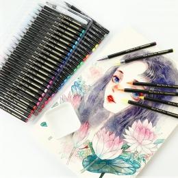 24/48 kolory miękkie malowanie zestaw pędzelków Manga komiks akwarela markery pióro kaligrafia szczotka artysta dostaw