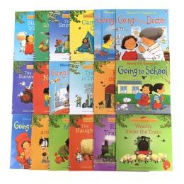 Losowo wybrać 5 sztuk/zestaw 15x15 cm Usborne najlepsze książki z obrazkami dzieci dziecko słynna historia języka angielskiego h