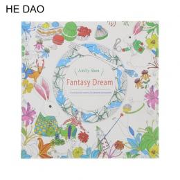 24 strony marzenie Fantasy angielski Edition kolorowanka dla dzieci dla dorosłych stres zabić czas malowanie szkicownik