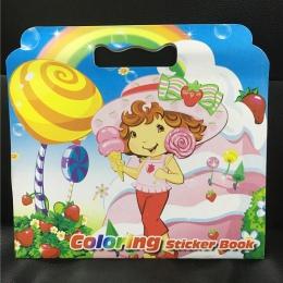 16 strona truskawka dziewczyna kolorowanka książka na naklejki dla dzieci dla dorosłych malowania/rysunek/komiks/cartoon kolorow
